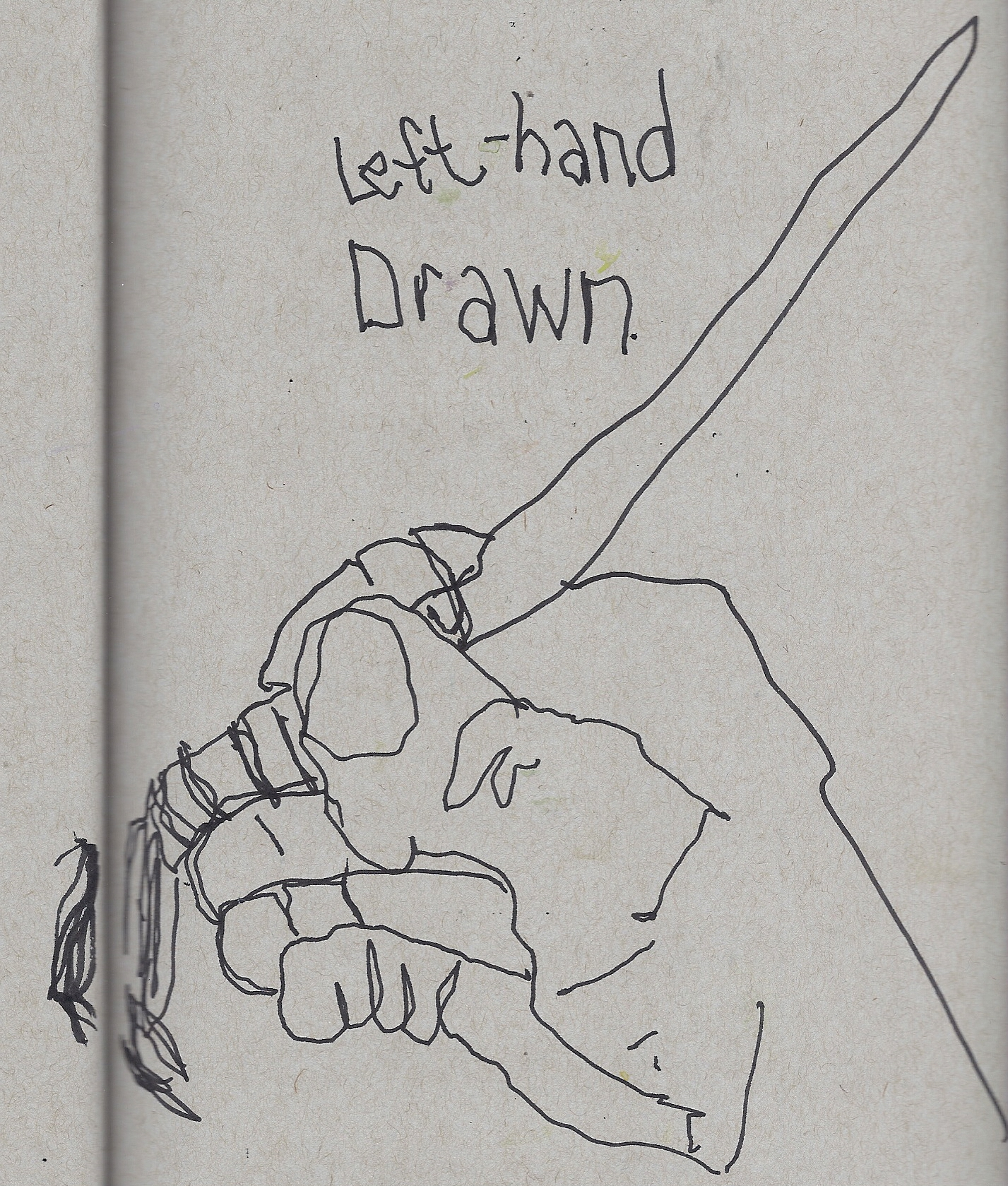 Demo of non-dominant hand
